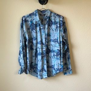 Woolrich Bronco Cowgirl Button Down Shirt Sz M